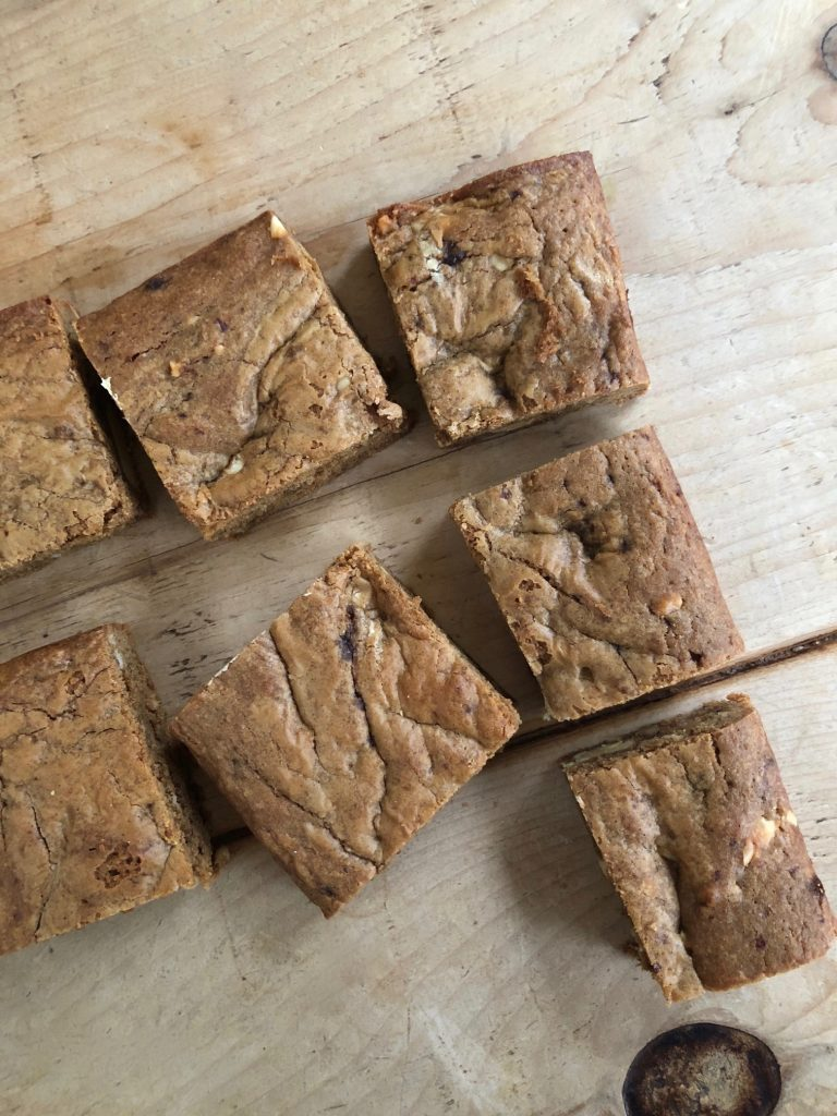 Double nut butter blondies - 1