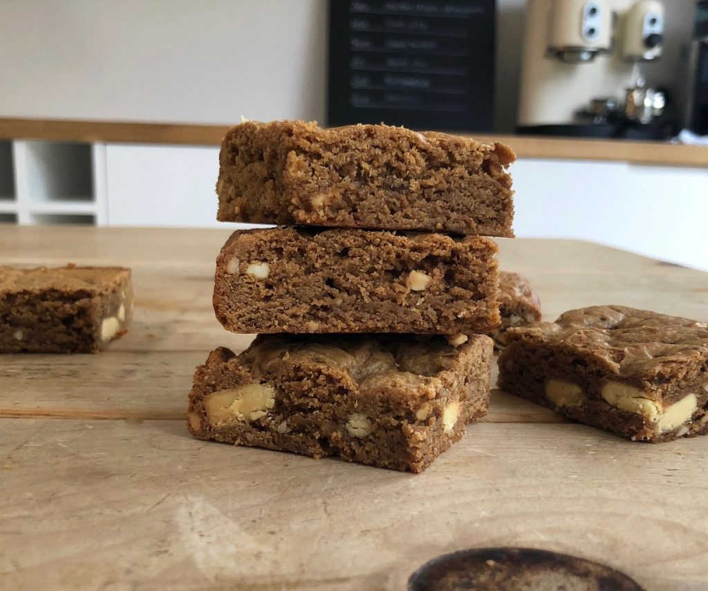 Double nut butter blondies - 4